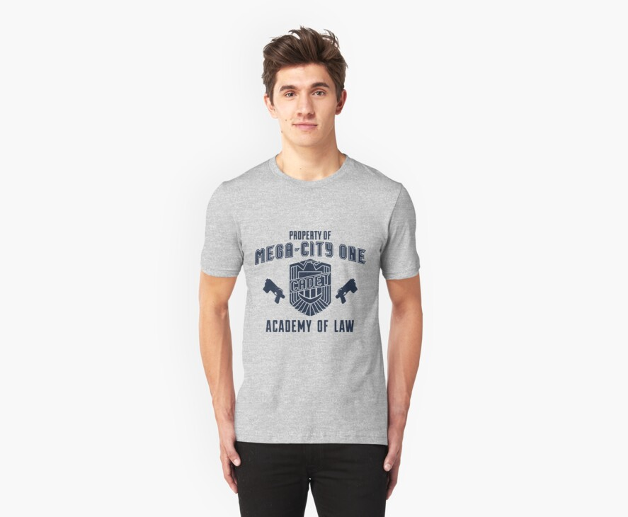 Mega-City 1 Academy shirt by Sandhop