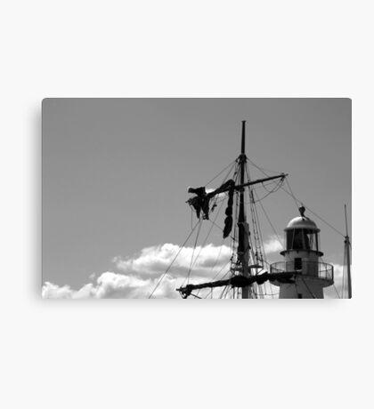 Man on the mast Canvas Print