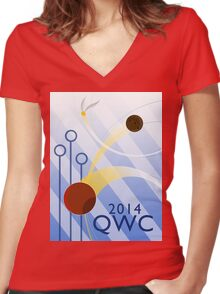 Quidditch World Cup 2014 Women's Fitted V-Neck T-Shirt