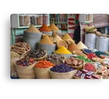 Marrakech The Colour of Spice Canvas Print