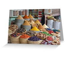 Marrakech The Colour of Spice Greeting Card