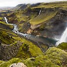Haifoss Waterfall, Iceland by Peter Kewley
