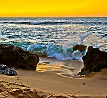 Sunset on Trigg Beach, Western Australia by haymelter