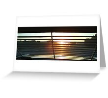 Sunrise through the Louvres Greeting Card