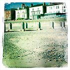 Groynes, Guesthouses, and Shingle, Lowestoft Beach by Lisa Hafey