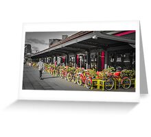 Docklands Dining and Bicycles Greeting Card