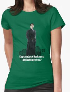 Captain Jack Harkness : Who are you ? Womens Fitted T-Shirt