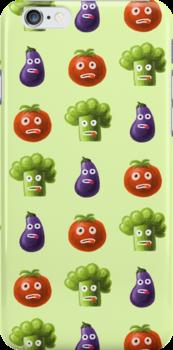 Funny Cartoon Vegetables by Boriana Giormova