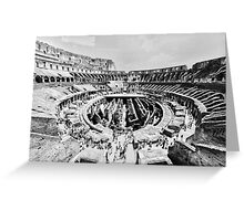 Gladiators Colosseum Greeting Card