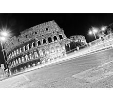 Life Outside The Colosseum Photographic Print