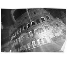 Ghosts Of The Colosseum BW Poster