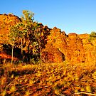 Sunset on the Sandstone formations at Keep River National Park by Alwyn Simple