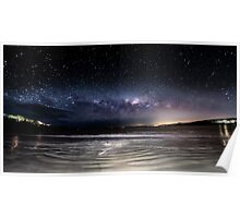 Primrose beach & the night sky  Poster