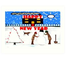 HAPPY NEW YEAR 64 Art Print