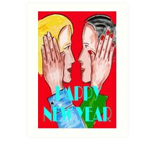 HAPPY NEW YEAR 69 Art Print