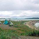Saami tents at Olderfjord - Norway by Arie Koene