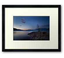 Harrison lake Framed Print