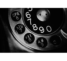 Vintage Phone Photographic Print