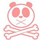 Panda Cross Bone - Pink by Adamzworld