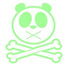 Panda Cross Bone - Green by Adamzworld