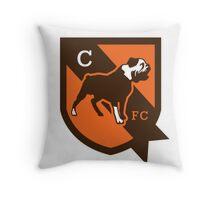 cleveland brown Throw Pillow