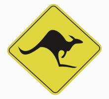 KANGAROO AUSTRALIAN ROAD SIGN by DangerSigns