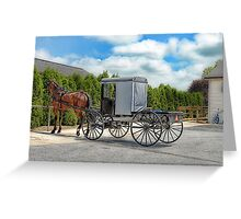 Horse & Buggy Greeting Card