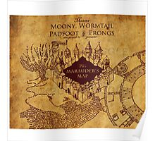 Marauders Map Harry Potter Poster