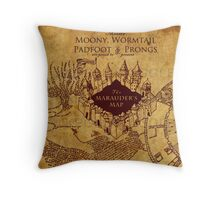 Marauders Map Harry Potter Throw Pillow