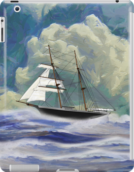 Mary Celeste 1872 iPad/iPhone/iPod cases by Dennis Melling
