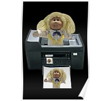 。◕‿◕。 CABBAGE PATCH DOLL PHOTOCOPIED。◕‿◕。  Poster