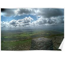 View from Pen-y-ghent Poster