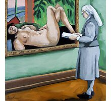 A Different View nun viewing classics art museum series Photographic Print