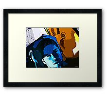 Blue Surfer Boy Framed Print