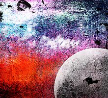 Lunatic Love - The moon and Heart - Grunge Textures by Denis Marsili - DDTK