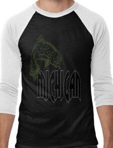 FISH MICHIGAN VINTAGE LOGO Men's Baseball ¾ T-Shirt