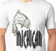 FISH MICHIGAN VINTAGE LOGO Unisex T-Shirt