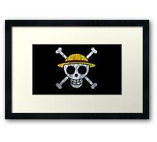 One Piece Straw Hat Pirates Logo Framed Print