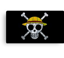 One Piece Straw Hat Pirates Logo Canvas Print
