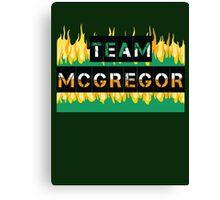Team Conor Mcgregor Canvas Print
