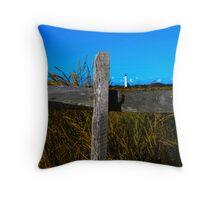 Fenced Lighthouse Throw Pillow