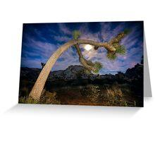 Joshua Tree Moon Landscape Greeting Card