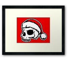 Santa Skull Christmas Framed Print