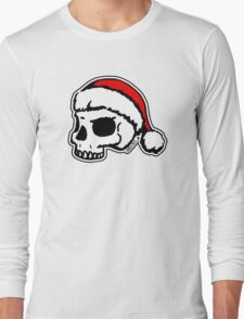 Santa Skull Christmas Long Sleeve T-Shirt
