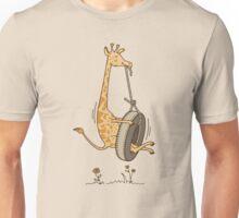 GIRAFFE ON A SWING Unisex T-Shirt