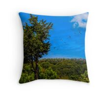 Birds above the trees Throw Pillow