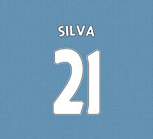 Manchester City - Silva (21) by Thomas Stock