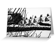 The Thatched cottages Warter Greeting Card