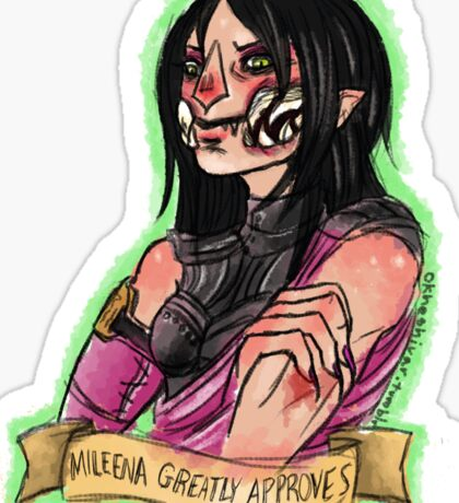 Mileena Greatly Approves Sticker