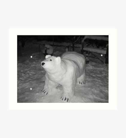 Snow bear Art Print
